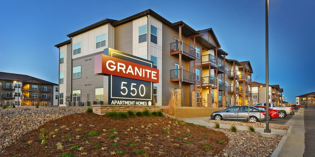 Granite Apartments in the morning